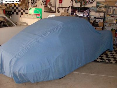 Car Cover (Universal) Poly/Cotton Blue