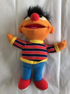 Ernie flushed stuffed animal good condition could use a wash in the washing machine