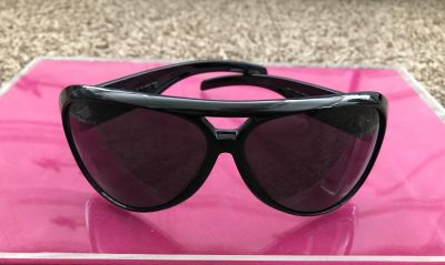 ELECTRIC GAUGE OVERSIZE AVIATOR BLACK SUNGLASSES USED CONDITION W/ SCRATCHES