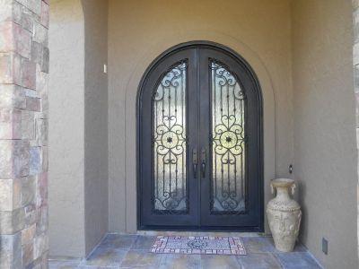 Full Arch Iron Doors