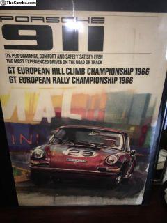 Sell/TRADE Rare Factory Porsche Race Posters