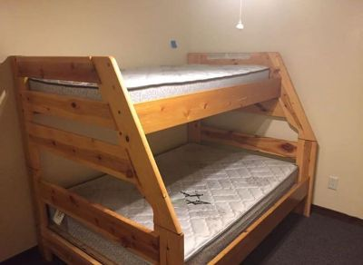 Sturdy Twin over Full Bunk Beds w/ dresser