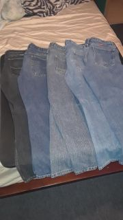 5 pair of boys jeans