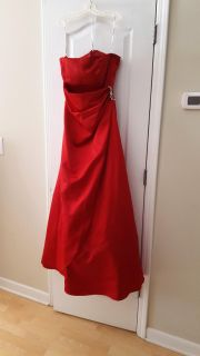 Red formal gown / prom dress and shawl