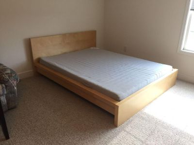IKEA MALM Queen Bed and Mattress