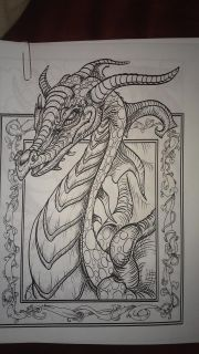 Dragon and fairy coloring pages