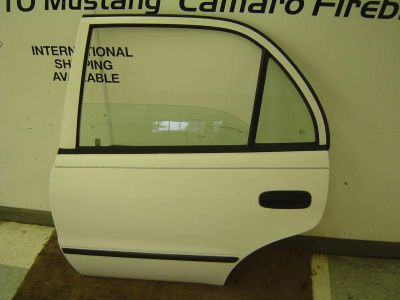 Purchase 98-02 Toyota Corolla OEM White LH Drivers Rear Door Assembly w/ Manual Window motorcycle in Columbia Station, Ohio, US, for US $299.99