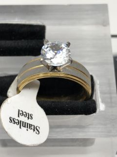 Two Tone Size 6 Ring