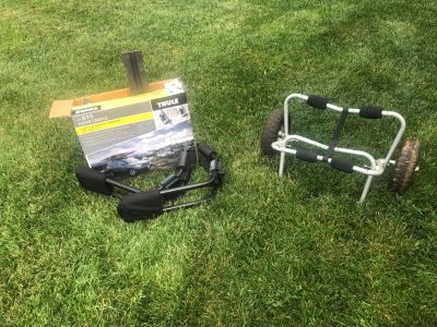 Thule Kayak Car Top Cradle, and 2 wheel cart