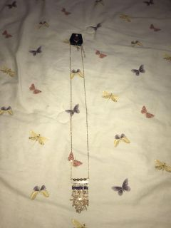 Brand new long necklace from paparazzi with matching earrings