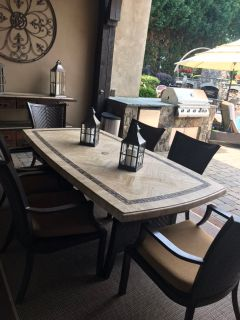 WOW 7 piece dining set solid table top