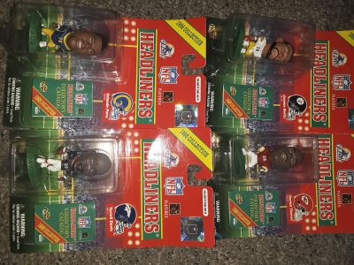 1998 football action figures, make offer