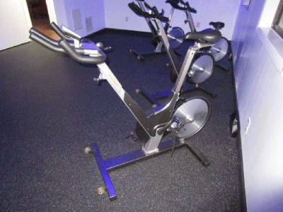 (5) Keiser M3 Stationary Bike with Mats RTR#8063294-09