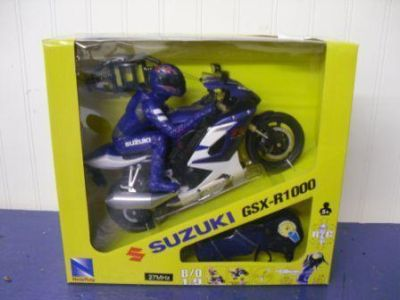 Sell NewRay Suzuki GSX-R1000 RC motorcycle with rider motorcycle in Mount Vernon, Ohio, US, for US $29.99