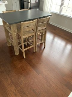 Counter height kitchen table and 4 chairs