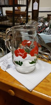 1970s red poppy retro anchor hocking