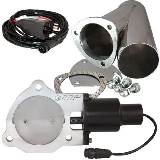 """Buy QTP QTEC35CPS 3.5"""" 3-1/2"""" Electric Exhaust Valve & Stainless Cutout Y-Pipe motorcycle in Suitland, Maryland, US, for US $228.78"""
