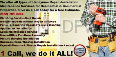 Rent-A-Man DFW Home Improvements & Handyman Services!