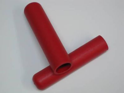 Purchase Red handlegrips for 7/8 bars handlebars Triumph chopper bobber grips grip set motorcycle in Canyon Country, California, US, for US $10.00