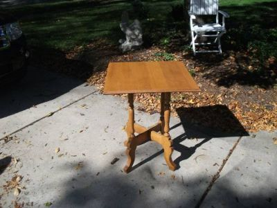 HARD WOOD SQUARE TABLE