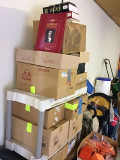 Many boxes of American Heritage books and magazines FREE
