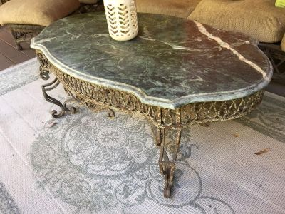 Marble Top Coffee Table $50