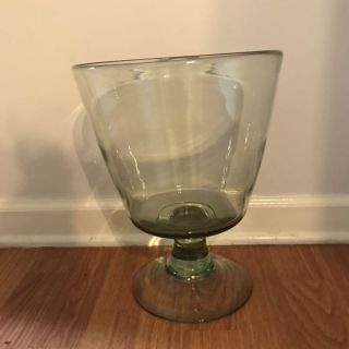 Pottery barn glass vase recycled Clift glass
