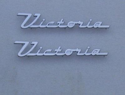Find 55 56 1955 1956 FORD VICTORIA CHROME DOOR EMBLEM NEW motorcycle in Indianapolis, Indiana, US, for US $69.00