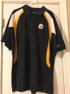 Men's 2XL Pittsburgh Steelers NFL Apparel Polo - never worn! (Porch pick up)