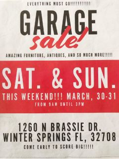 MOVING SALE- Furniture, antiques, and much more!
