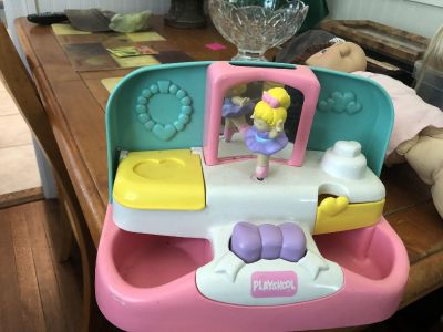 Barbie dolls and clothes and Little Tikes