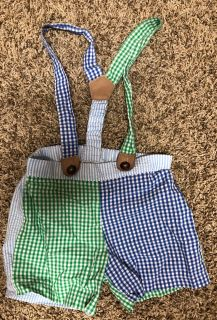 Mud Pie Adorable Outfit With Suspenders. Nice Condition. Si3 12-18 Months