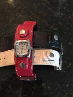 Fossil watch with bands