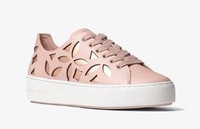 MICHAEL Michael Kors MIMI Perforated Leather Sneaker Shoes US 6.5, 7.0, 7.5, 8.0, 8.5
