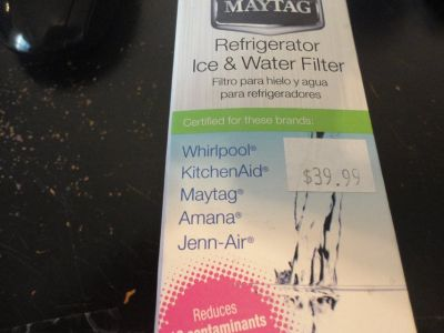 NEW water filter for whirlpool, kitchen aid, maytag, jenn-air, amana, roperUKF8001