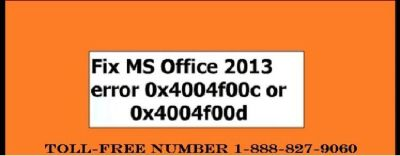 How to troubleshoot the Office 2013 Error Code 0x4004f00c or 0x4004f00d
