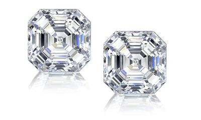 ***BRAND NEW*** 3CTTW ASSCHER CUT CZ EARRINGS****