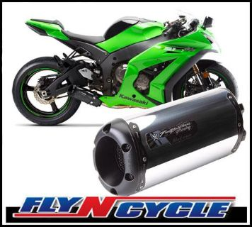 Find Two Brothers V3 Black M-2 Aluminum Slip-On Exhaust 2011-2013 Kawasaki ZX-10R motorcycle in Ashton, Illinois, US, for US $390.86