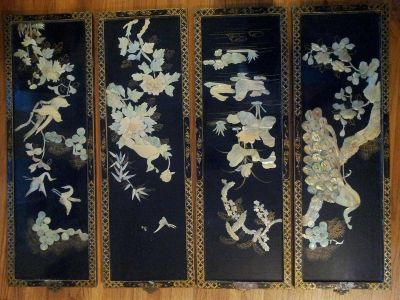 Antique Japanese wall panels