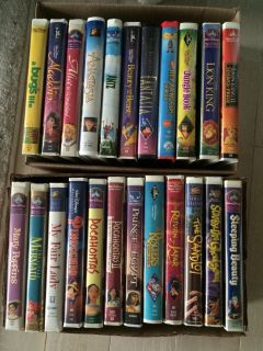 Collection of Disney Kids VHS Movies
