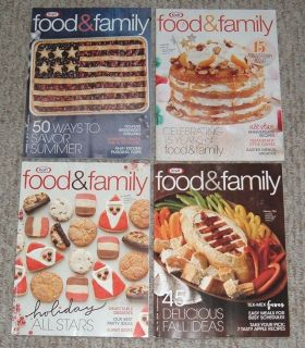 Kraft Food & Family Magazine Lot of 4 Fall & Holiday 2016 Spring & Summer 2017