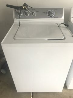 GE Washer & Dryer (Gas, White) Used