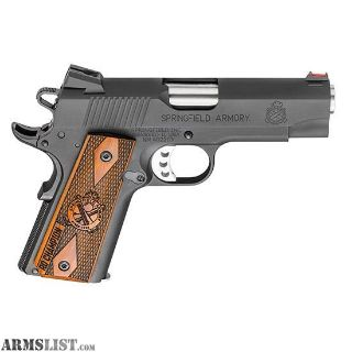 "For Sale: NEW IN BOX SPRINGFIELD ARMORY 1911 45ACP BLK LIGHT WEIGHT CHAMPION RANGE OFFICER 4"" WITH GEAR PACKAGE"