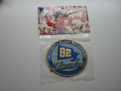 MLB Milwaukee Brewers Authentic on Field Emblem 1982 2007 SILVER ANNIV