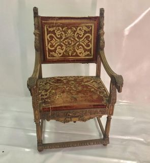 Stunning Vintage Victorian Wood Carving Chair Set