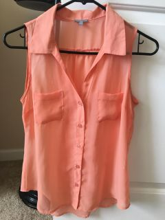 Charlotte Russe sheer button up