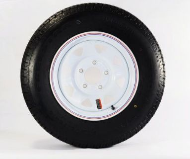"Sell 2-Pack Radial Trailer Tire & Rim ST175/80R13 13"" Load C 5 Lug White Spoke 57880 motorcycle in Naples, Florida, United States, for US $144.95"