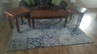Coffee Table and End Table 3pc Set