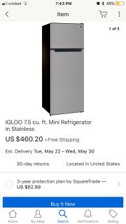 Apartment or office refrigerator new in box
