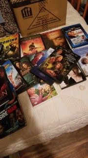 box of movies ($10 for all)